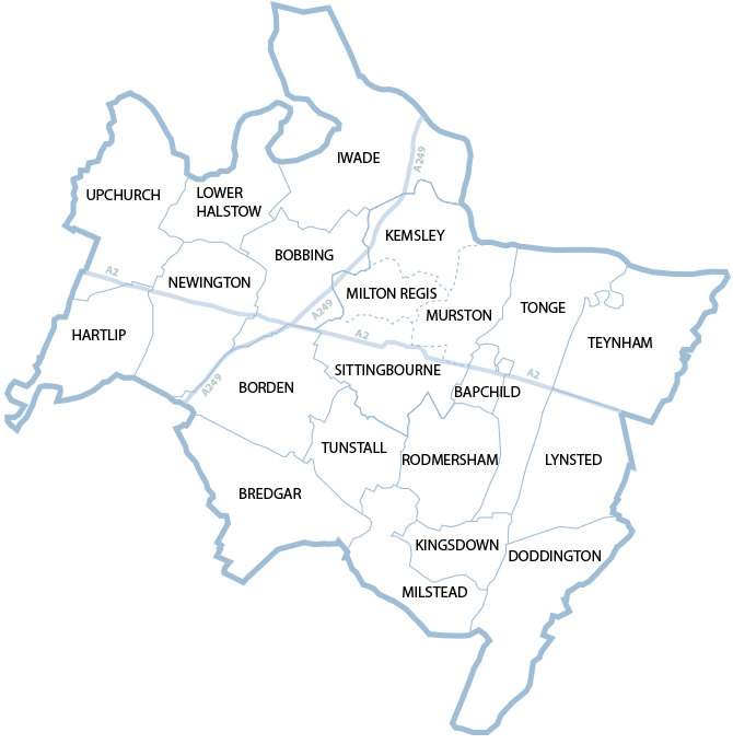 Map of Sittingbourne
